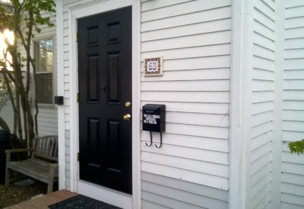 I Painted Our New Front Door Black!