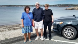 daniela, dad, & me at niles beach in gloucester, ma