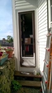 priming the back yard door with stix primer