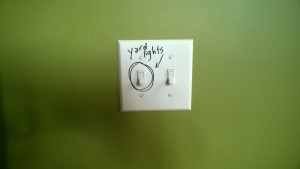 i used a sharpie to label the yard light switch once i finally identified it!