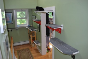 4 new cat platforms in the upstairs hall