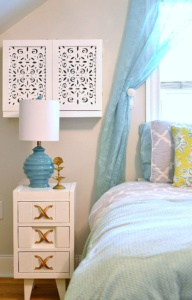 vintagemeetsglam diy'd ac cabinets using michaels laser cut wooden panels