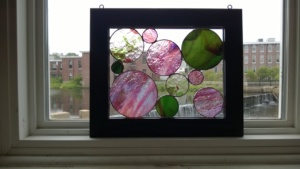 my second stained glass circles project completed