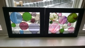 both of my stained glass circles projects together