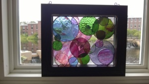 my 2 stained glass circles projects layered!