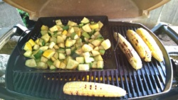 grilling squash [kousa, zucchini, and summer], and corn on the cob