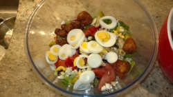a closeup of my typical salad