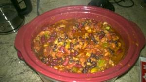 homemade slow cooker crock pot vegetarian chili