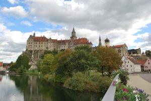castle sigmaringen in the swabian alps region of germany