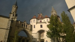 castle sigmaringen on the danube river in the swabian alps of germany