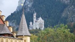 castle neuschwanstein as seen from castle hohenschwangau