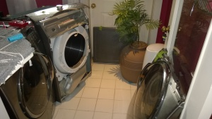 the samsung dryer looks naked after i removed the front panel & door
