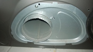 the samsung dryer back panel and vent hole