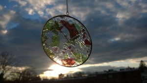 "decorative ""christmas glass"" stained glass circle"