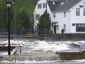 our condo from across the ipswich river during the flood of 2006, taken by waterpixi