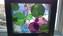 completed 2nd stained glass circles frame project