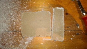 thankfully both pieces of drywall i cut showed no signs of black mold