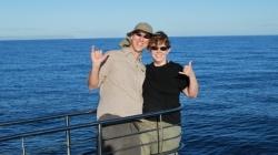 hubby and i on a na pali coast snorkeling trip, kauai, hawaii
