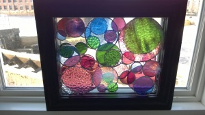 creating my 3rd stained glass circles project