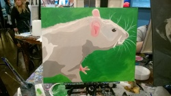the final step at muse paintbar was adding fur & whiskers