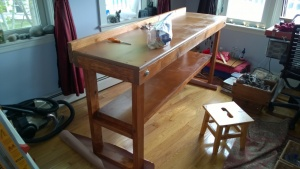 i let the workbench stain sit overnight to cure