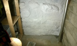 i painted 2 coats of drylok masonry waterproofer on our basement cage wall