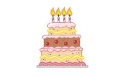 my happy 4th blogiversary cake
