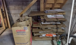 the massive stack of cardboard after i cleaned the basement