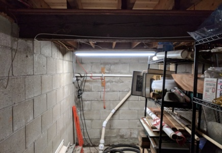 30 Minute Fix For A Dark Basement Corner