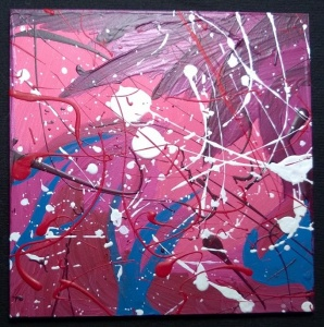 "abstract painting in pastel colors 2013 - acrylic on 5x5"" gesso board"