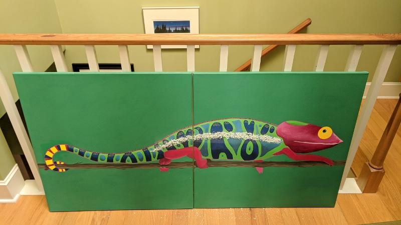 Chameleon Mural – Part 6