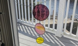 diy stained glass mobile