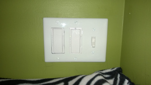 replacing the living room light switch and dimmer with LED dimmer switches