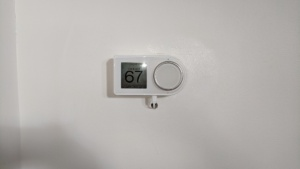 i installed the bedroom smart thermostat and fed the USB cable through the wall