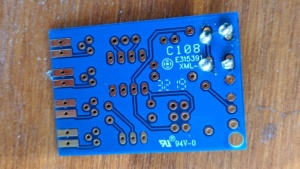 my first 4 solder joints on the TV B Gone build it yourself kit