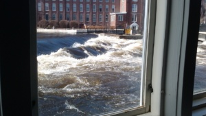 ipswich river during the flood of 2010, taken by jim