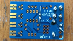 my nice, tight solder joints on the TV B Gone build it yourself kit