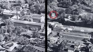 philemon dean house as part of panaramic shot of ipswich mills around 1940